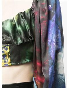 Укороченная блузка с длинными рукавами Ottolinger