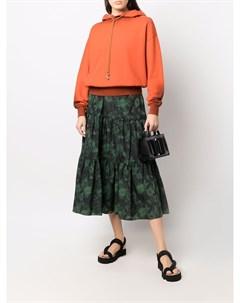 Ярусная юбка с цветочным принтом Kenzo