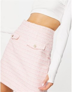 Мини юбка из букле пастельного оттенка от комплекта Neon rose