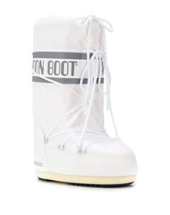 Сапоги со шнурками и логотипом Moon boot