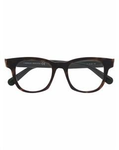 Очки в геометричной оправе черепаховой расцветки Moncler eyewear