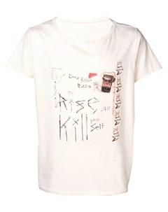 Garcons infideles футболка с эффектом потертости нейтральные цвета Garcons  infideles