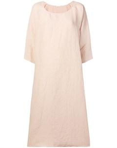 Apuntob платье с круглым вырезом и драпировкой нейтральные цвета Apuntob