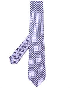 borrelli галстук с геометричным принтом Borrelli