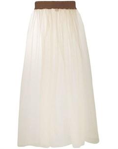 Danielapi юбка макси из тюля нейтральные цвета Danielapi
