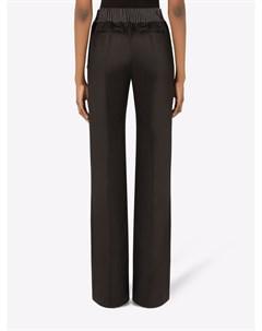 Твиловые брюки прямого кроя Dolce&gabbana