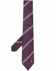 Шелковый галстук в полоску с логотипом Givenchy