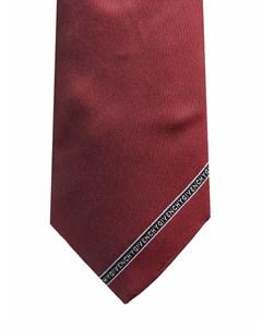 Шелковый галстук с вышитым логотипом Givenchy