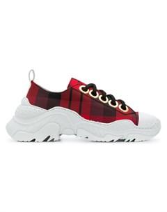 n?21 клетчатые кроссовки на массивной подошве 38 красный No21