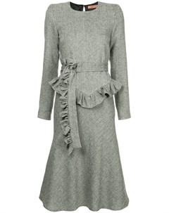 Maggie marilyn платье в елочку с поясом 12 серый Maggie marilyn