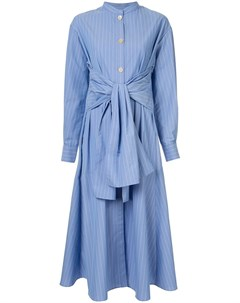 Le ciel bleu платье в полоску с завязкой спереди Le ciel bleu