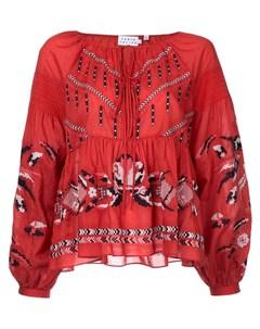 Tanya taylor блузка с вышивкой Tanya taylor