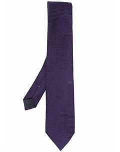 Шелковый галстук с геометричным узором Ermenegildo zegna