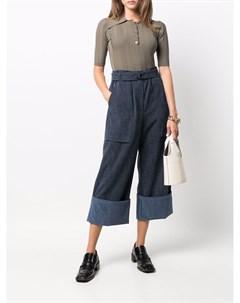 Широкие брюки с завышенной талией Odeeh