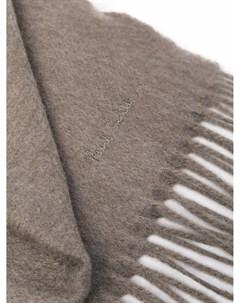 Кашемировый шарф с вышитым логотипом Paul smith