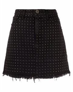 Джинсовая юбка с заклепками Pinko