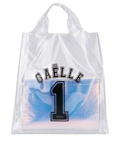 Gaelle bonheur прозрачная сумка тоут нейтральные цвета Gaelle bonheur