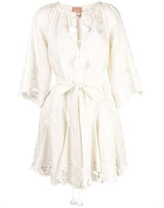 March 11 платье мини с цветочной вышивкой March 11