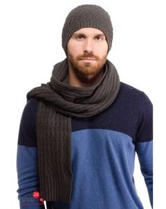 Комплект шапка шарф цвет серый Moltini