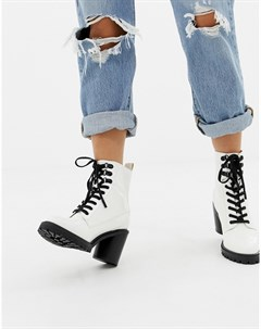 Белые походные ботинки на каблуке Barc Faith