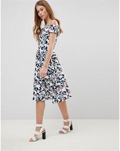 Платье для выпускного с лиственным принтом Uttam boutique