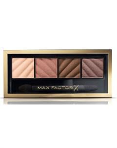 Тени для век и пудра для бровей 10 Smokey Eye Matte Drama Kit alluring nude Max factor
