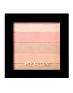 Палетка хайлайтеров для лица 020 Highlighting Palette Rose glow Revlon