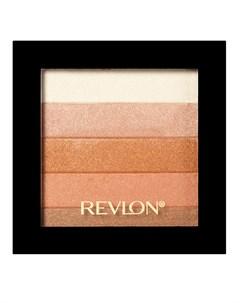 Палетка хайлайтеров для лица 030 Highlighting Palette Bronze glow Revlon