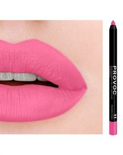 Подводка гелевая в карандаше для губ 11 светлая фуксия L Gel Lip Liner Strawberry Kisses 7 г Provoc