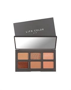 Тени для глаз в палетке Лайф Калор 01 коричневые Life Color Palette EYE 01 Meghan 6 х 1 8 г It's skin