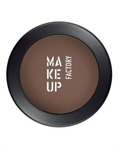 Тени одинарные матовые для глаз 10 коричневый орех Mat Eye Shadow 3 г Make up factory