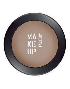 Тени одинарные матовые для глаз 08 коричневая кожа Mat Eye Shadow 3 г Make up factory