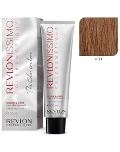 6 31 краска для волос темный блондин холотисто пепельный RP REVLONISSIMO COLORSMETIQUE 60 мл Revlon professional