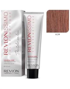 6 24 краска для волос темный блондин переливающийся медный RP REVLONISSIMO COLORSMETIQUE 60 мл Revlon professional