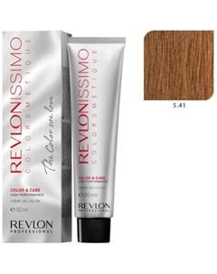 5 41 краска для волос светло коричневый медно пепельный RP REVLONISSIMO COLORSMETIQUE 60 мл Revlon professional
