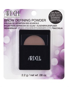 Пудра для бровей с кистью и зеркалом темно коричневый Brow Defining Powder Dark Brown 2 2 г Ardell