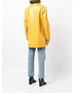 Двубортный глянцевый пиджак Maison margiela