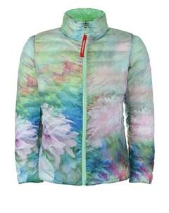 Двухсторонняя куртка мятный цветочный детская Freedomday