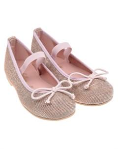 Розовые туфли с бантиком детские Pretty ballerinas