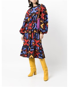 Жаккардовое платье с узором Stella jean