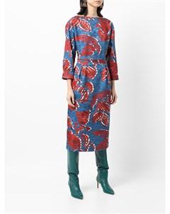 Приталенное платье с цветочным принтом Stella jean