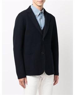 Однобортный пиджак строгого кроя Giorgio armani