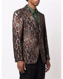 Пиджак с леопардовым принтом Etro