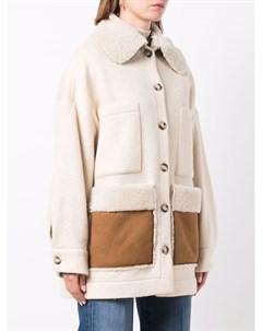 Куртка из овчины на пуговицах Ava adore