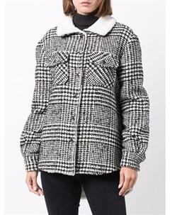 Куртка из овчины в ломаную клетку Ava adore