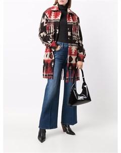 Пальто с узором и бахромой Ava adore
