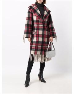 Клетчатое пальто с бахромой Ava adore