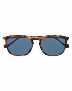 Солнцезащитные очки черепаховой расцветки Moncler eyewear