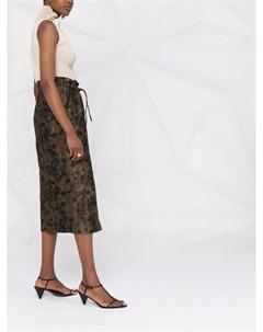 Жаккардовая юбка с цветочным узором Fabiana filippi