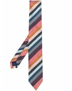 Шелковый галстук в диагональную полоску Paul smith